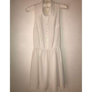 Topshop Vintage White Dress