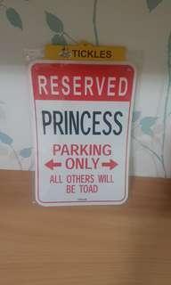 Princess Decor Wall Sign
