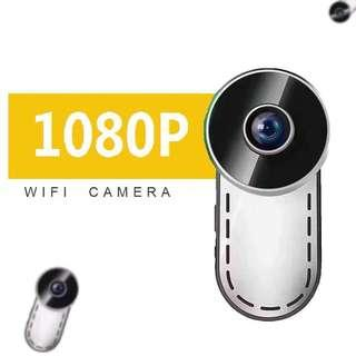 Wifi Wireless Mini Spy Camera [Features:Full-HD 1080P, Night Vision, Wide-Angle, Motion-Detection, Loop Recording, Rechargeable Battery 🔋, APP:HDMiniCam] HD Hidden Pinhole Camera