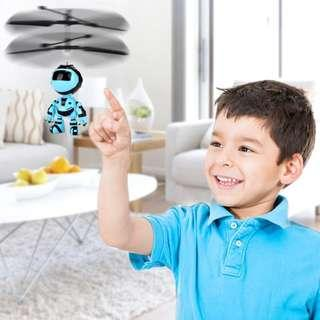 Electric RC Fly Robot RC Inductive Flying Robot Kid's Flying Ball Mini Drone Helicopter Aircraft Hand Infrared Induction Kids Light Up Toys