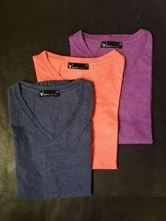 ‼️BUNDLE SALE‼️ BNY Slim Fit V-Neck T-Shirts 3-in-1