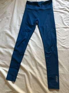 Lorna Jane blue full length tights xs as new worn once