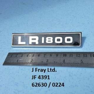 "BMC truck ""LR1800"" badge"