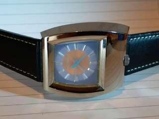 Paul Smith - Automatic watch,自動機械-配法國Paco Rabanne 真皮錶帶,約37mm x 43mm,淨錶。