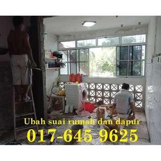 Ubah suai dapur dan rumah samsul alif 017-645 9625