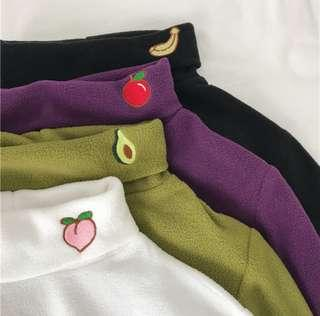 [PO] Korean style fruits embroidery pullover