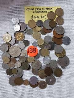COINS FROM DIFFERENT COUNTRIES.   PACKED IN BOTTLE AND SELL AS THE WHOLE LOT.