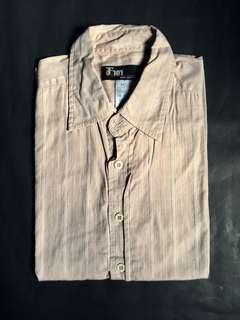 Brown Button Down Short Sleeve Shirt