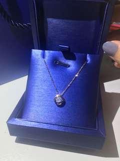 10份鑽石 一卡效果!18k鑽石吊墜頸鏈