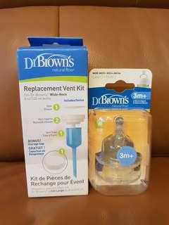 Dr Brown Teat & Replacement Vent Kit