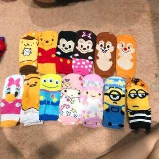 furry assorted cartoon socks