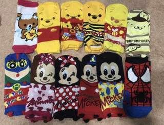 cute normal assorted socks