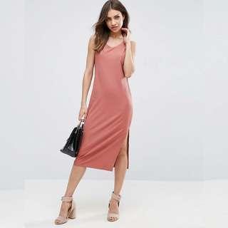 🚚 ASOS Midi Dress with side slit