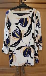 Plus Size 3/4 length blouse