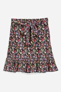 TOPSHOP Floral Tie Knot Skirt