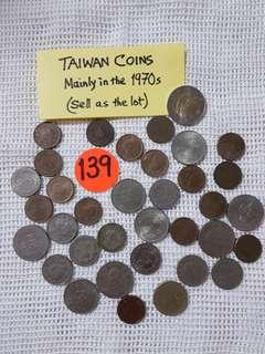 TAIWAN ASSORTED COINS MAINLY FROM THE 1970s  &  1080s.
