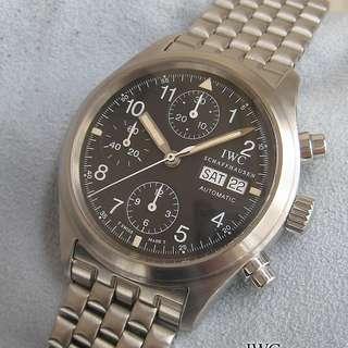 萬國IWC 全鋼 Pilot Der Fleigerchronograph ref. 3706-007 T dial Box Paper
