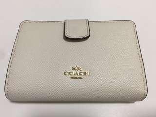 Coach Wallet 白色短銀包