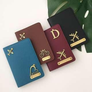 Personalised Passport Holder custom passport cover personalised gift travel Organizer gift Valentine day gift couple gift set