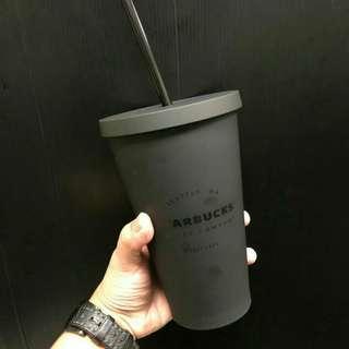 Tumbler Starbucks black Dop with straw