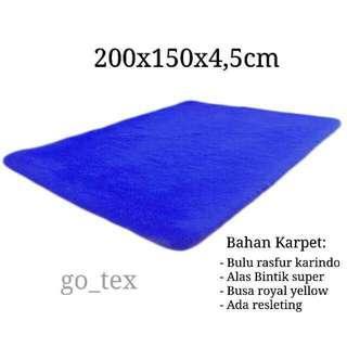 Karpet bulu 200x150x4,5cm free ongkir jabodetabek