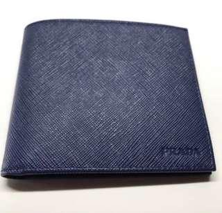 1896c202280d4c Brand new Prada Men's Blue Saffiano Leather Wallet with 8 credit card slots