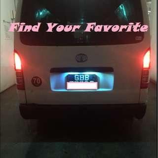 Hiace rides on T10 5630 SMD 6 leds MAXIMUM for rear license plate cash and carry ONLY - Collection at Punggol