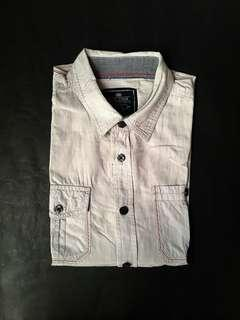 EGO DENIM Grey Button Down Half Sleeve Shirt