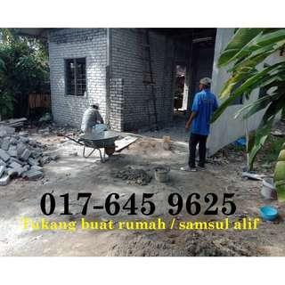 Tukang rumah bertauliah samsul alif 017-645 9625
