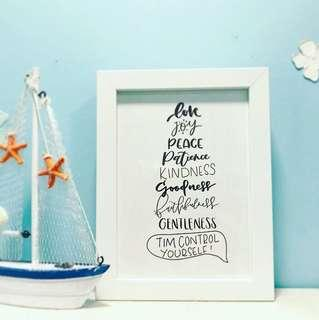 Customised Handwritten Calligraphy Wall Art