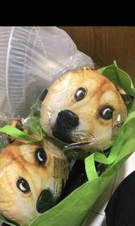 秋田犬車用頸枕