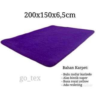 Karpet bulu 200x150x6,5cm