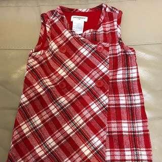 Chickeeduck red dress 紅裙/面試裙(90cm)