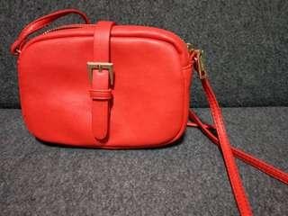 Pull and Bear red small sling bag