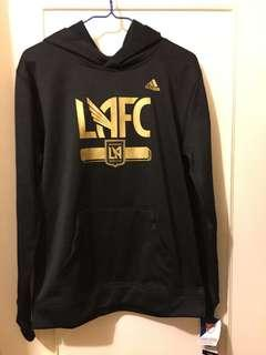 😍Adidas Hoodie😍MLS LA football Hoodie Youth Large 黑色連帽衛衣