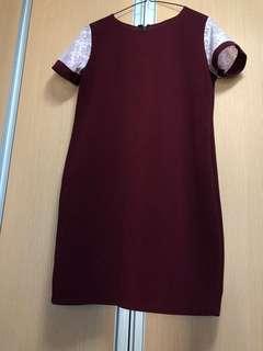 Lace Dress - Maroon