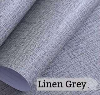 5 metre linen grey PVC stickers