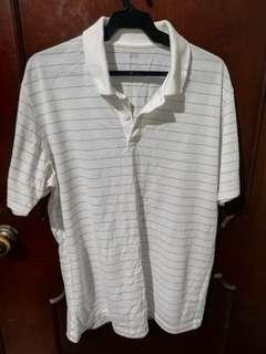 Uniqlo White Dry Ex Polo Shirt Size XL
