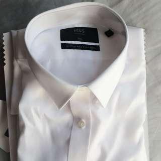 "NEW M&S White Shirt - 16"" Slim Fit"