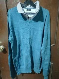 F&F Green Long Sleeve Shirt Size XL