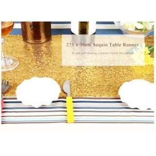 275 X 30CM GLITZ SEQUIN TABLE RUNNER FOR WEDDING PARTY