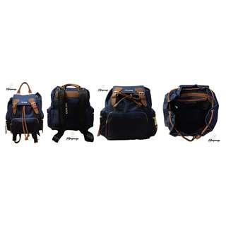 Steve Madden Navy Multi BSolly Backpack (100% Authentic)