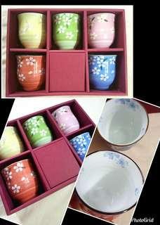 Tea Cups, Floral (set of 5)