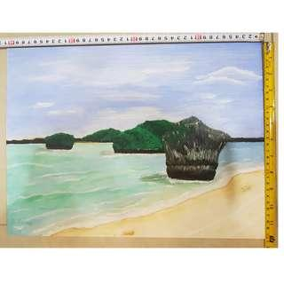 Acrylic Painting by seller (Blue Lagoon)