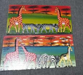 Paintings bought from Africa