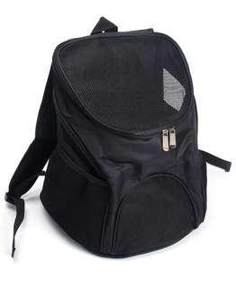 黑色寵物背囊 旅行寵物背包 外出包
