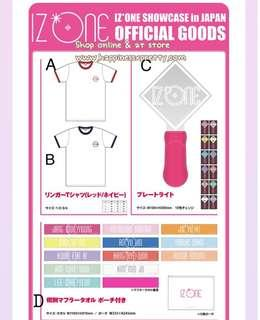 IZ*ONE showcase in japan goods < 預訂團>