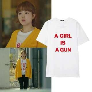 "[PO] strong woman do bong soon ""a girl is a gun"" inspired tee"
