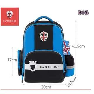🚚 Cambridge School Bag Korea Brand Korea Style for Primary 1 to Secondary, Good Spinal Backpack Waterproof for Boys and Girls - Blue (Big)