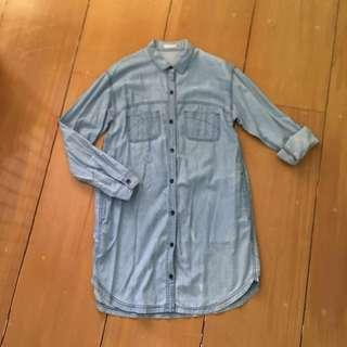 GU Washed Denim Dress